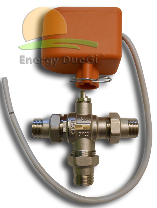 Valvola Pannello Solare Lagu : Valvola deviatrice a tre vie motorizzata per impianti