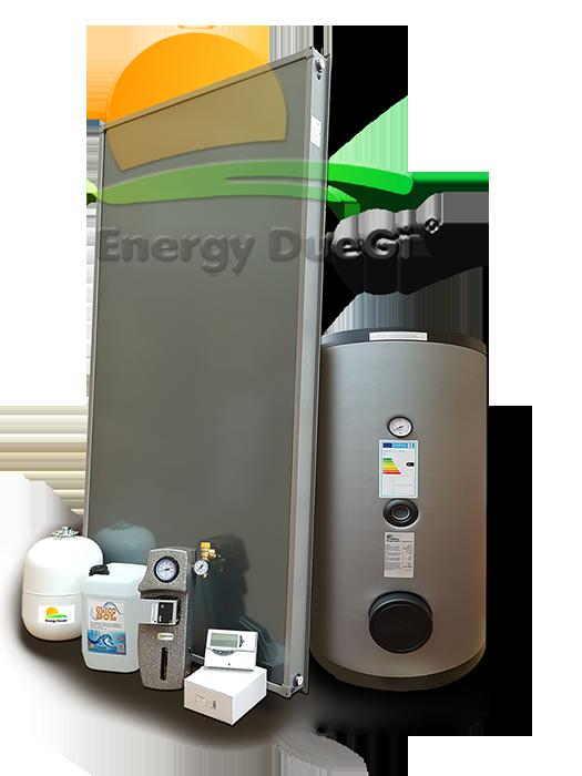 Pannello Solare Termico Descrizione : Kit impianto solare termico con pannello piano