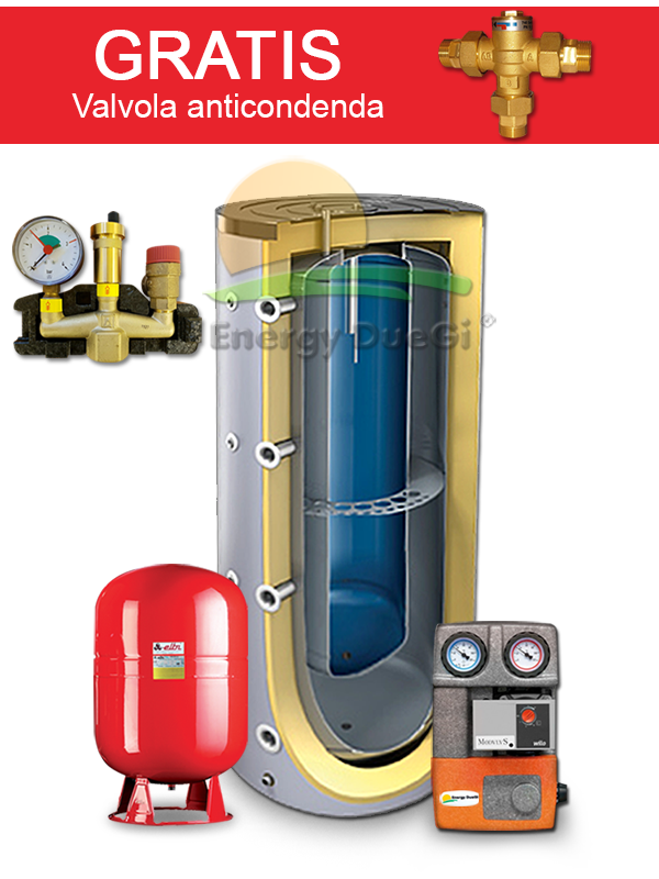 kit heating and domestic water production from pellet